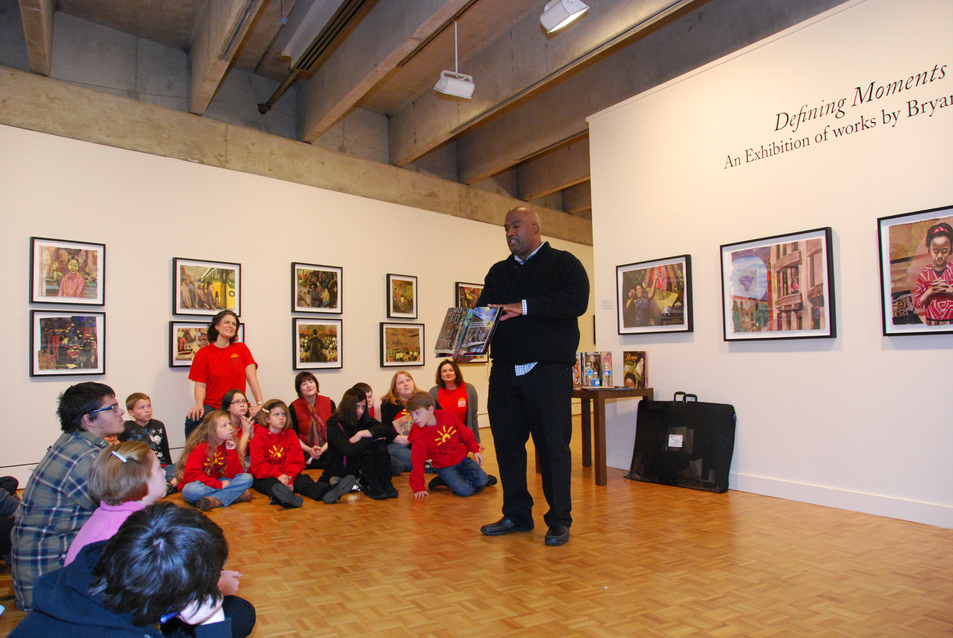 Bryan Collier in gallery.JPG