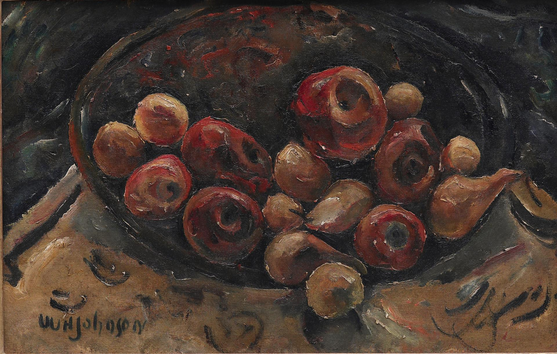 William H. Johnson (1901-1970) Bowl of Fruit oil on canvas view ...