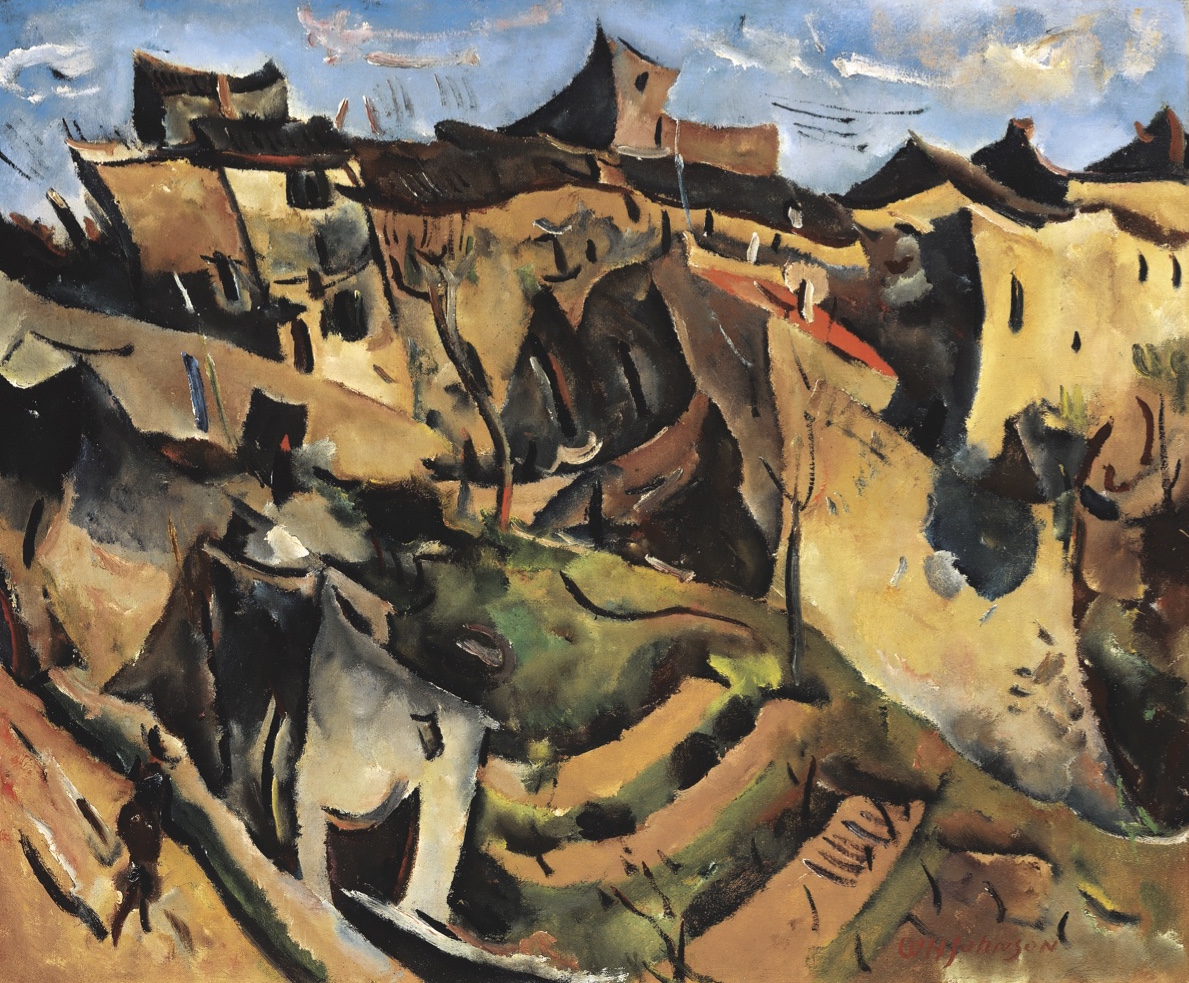 ... William H. Johnson (1901-1970) Cagnes-sur-Mer oil on canvas view ...