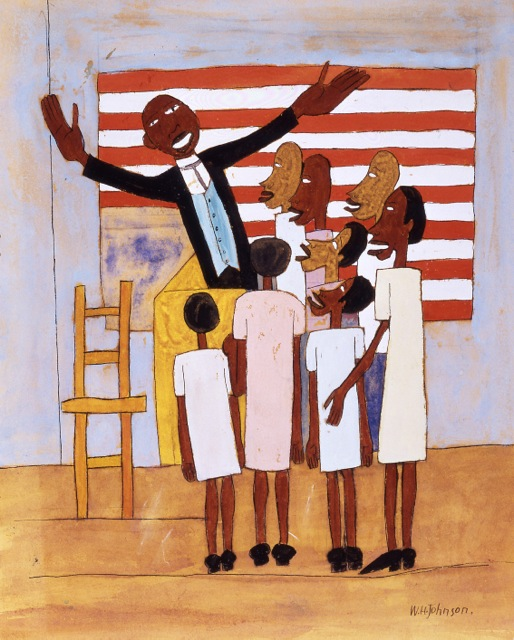 oil on canvas view William H. Johnson Lift Up Thy Voice and Sing 1942  gouache, pen and ink on paper view